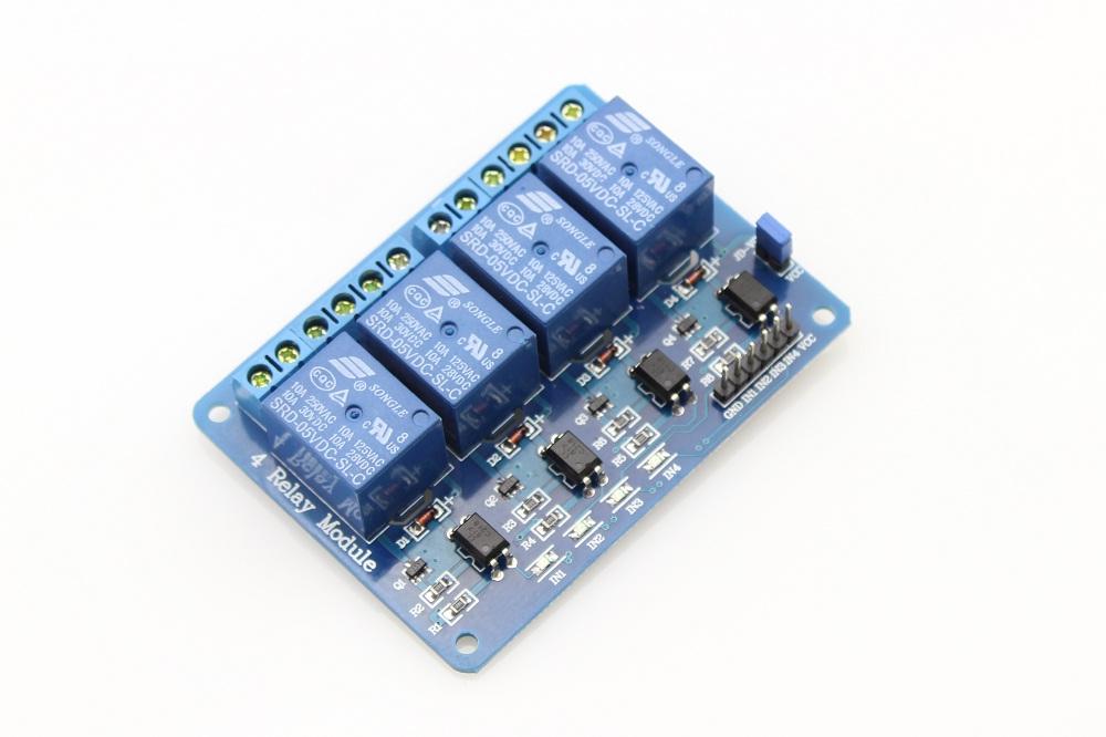 4x Relé modul 5V pro Arduino