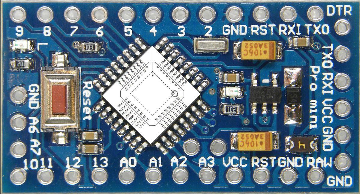 Sanduino Mini Pro 328P 16MHz 5V (klon)