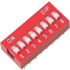 Přepínač na PCB desku - 8 pinů (DIP switch)