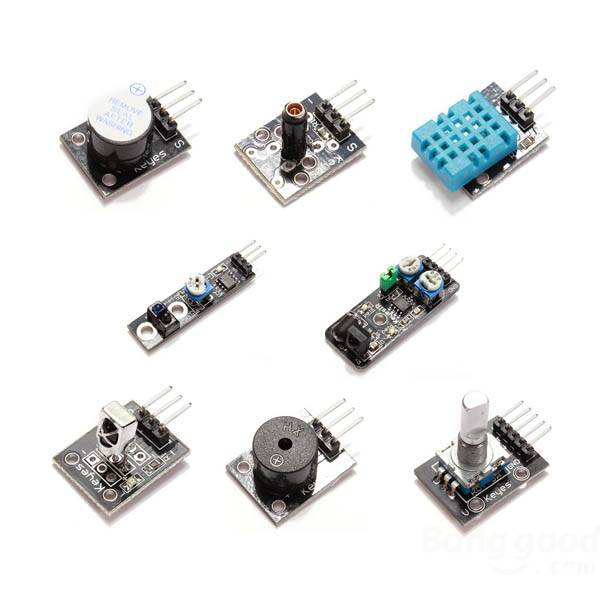 Sada senzorů 37 v 1 pro Arduino (v plastovém boxu)