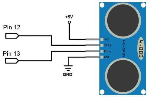 Ultrazvukový senzor vzdálenosti HC-SR04