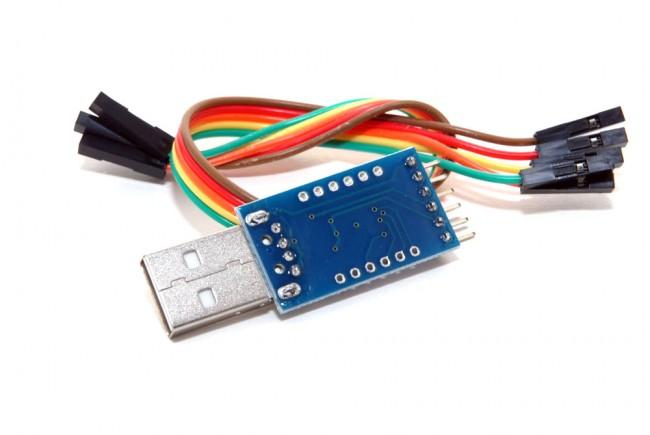 Převodník úrovní USB na TTL (UART) 5v 3.3v včetně DTR