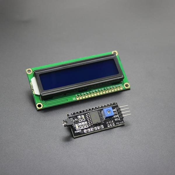 Sada LCD displej 16x2 modrý + I2C převodník