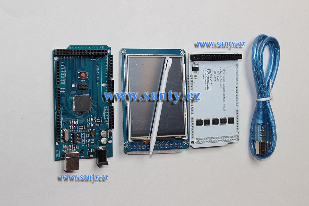 Sada MEGA2560 + LCD 3.2 TFT dotykový displej (ILI4391)
