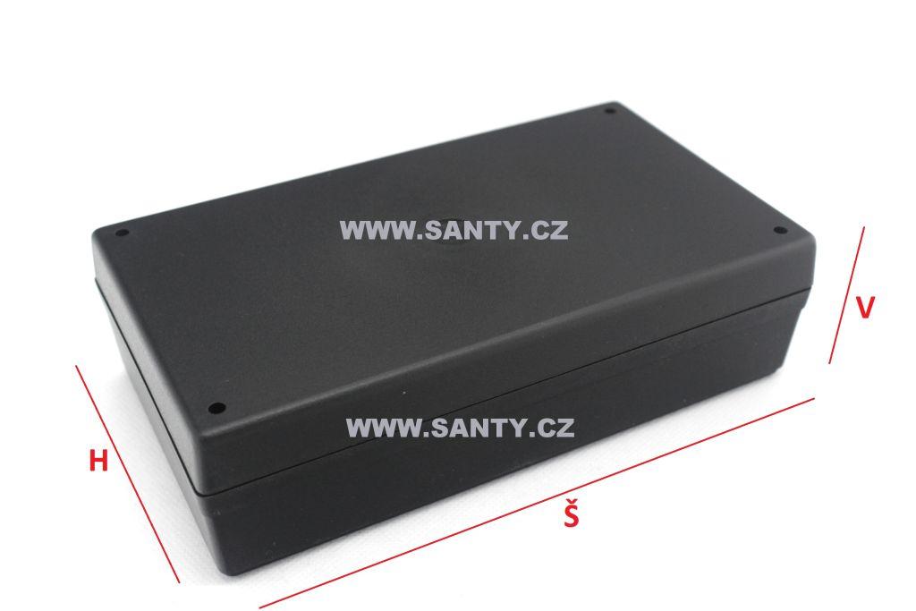 Krabička S607 (101x176x49mm) černá