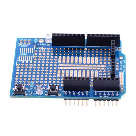 Arduino prototype Shield + mini BreadBoard