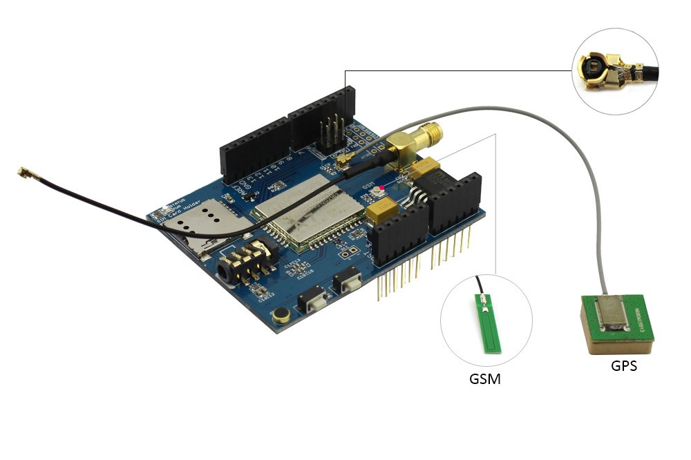 GPRS + GSM + GPS Shield pro Arduino (A7)