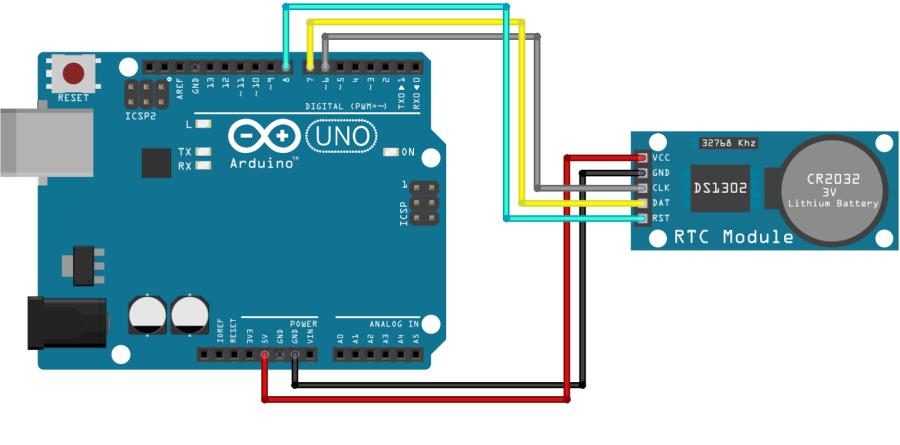 RTC modul DS1302 - reálný čas pro Arduino - BEZ BATERIE