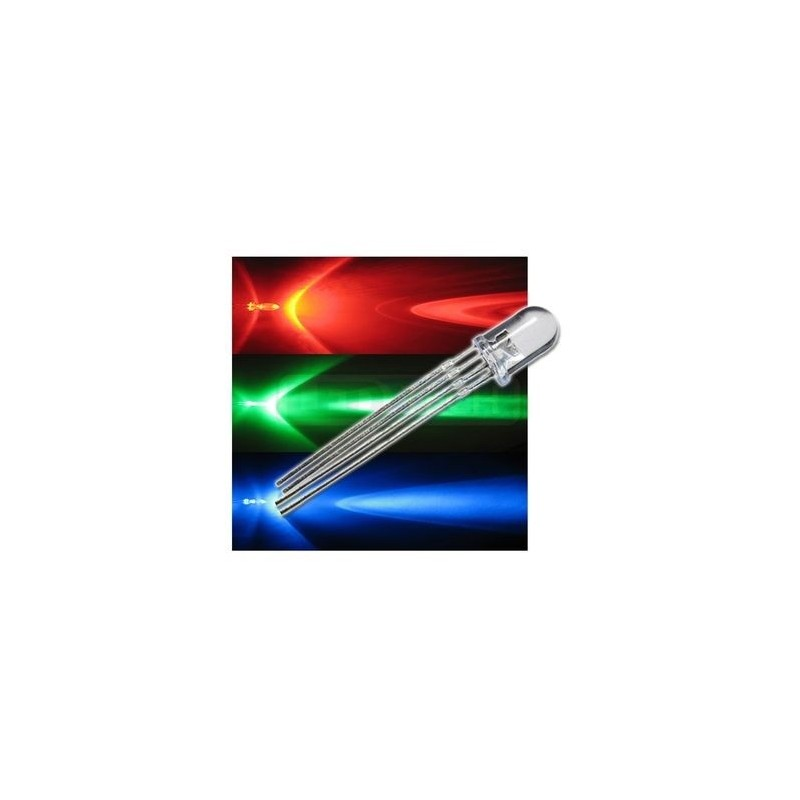 LED 5mm RGB matná