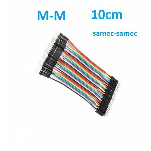 Dupont propojovací káblíky M-M, sada 40ks (10cm)