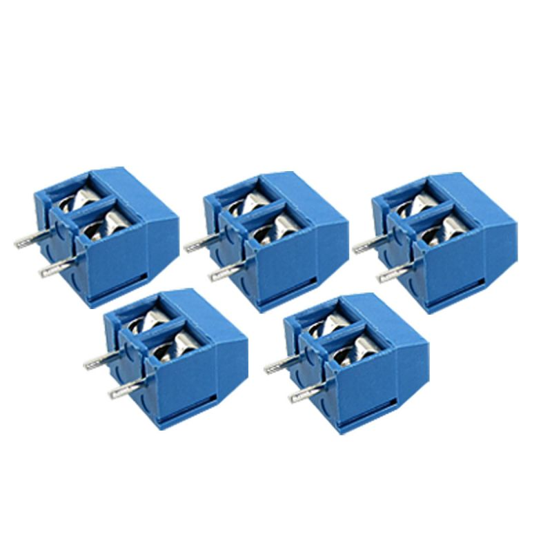 Konektor 2 piny, rozteč 5mm, modrý, spojovatelný.