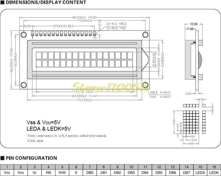 LCD displej 16x2 pro Arduino - žlutý