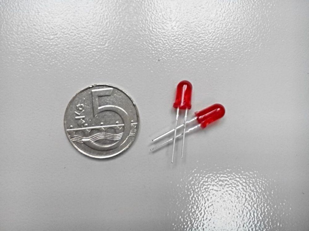 LED dioda 5mm - červená