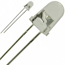 LED dioda 5mm - Bílá čirá