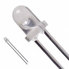 LED dioda 3mm - Bílá čirá