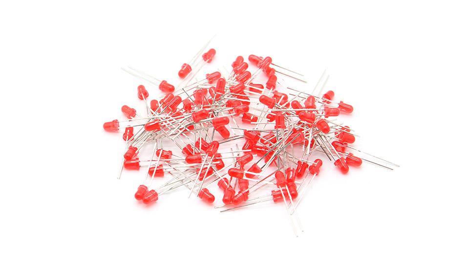 LED dioda 3mm - červená
