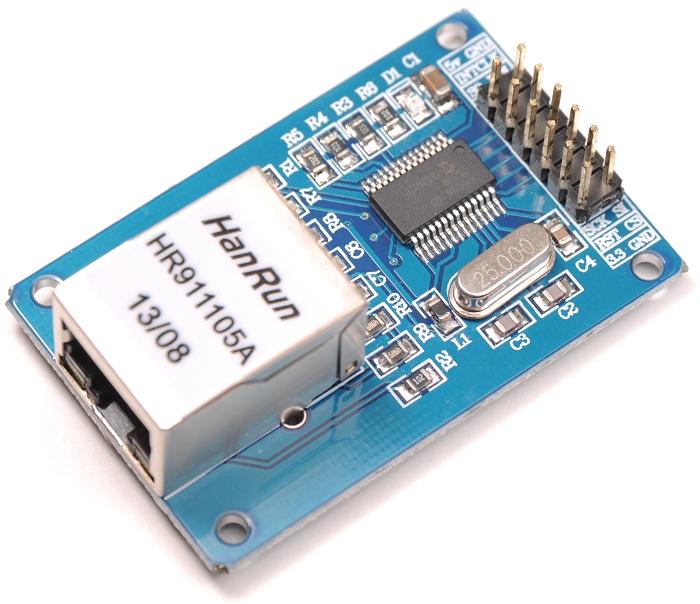 Mini Ethernet modul enc28j60 pro Arduino