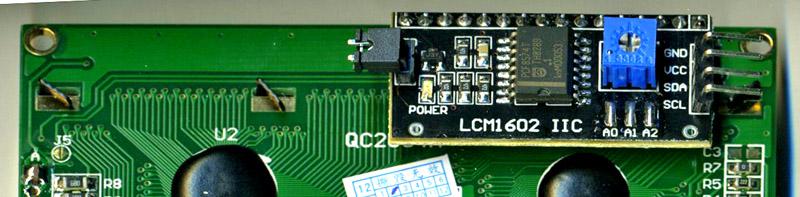 LCD displej 16x2 pro Arduino - modrý I2C (IIC)