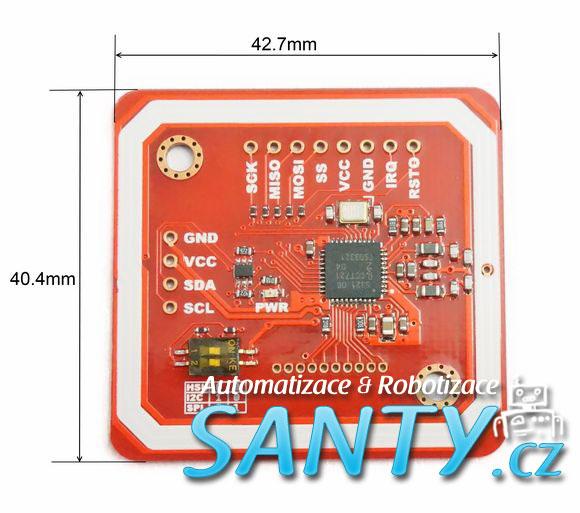 NFC RFID Mifare PN532 (Čtení i zápis)