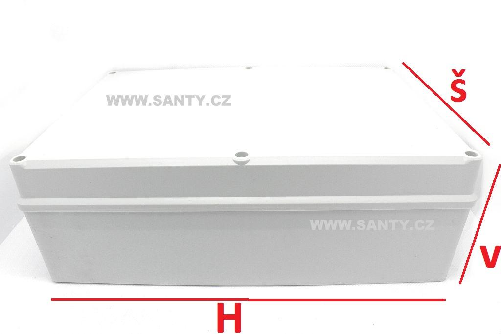 Krabička S606 (196x286x95mm) šedá