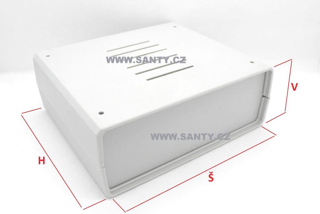 Krabička S610 (159x138x59mm) černá