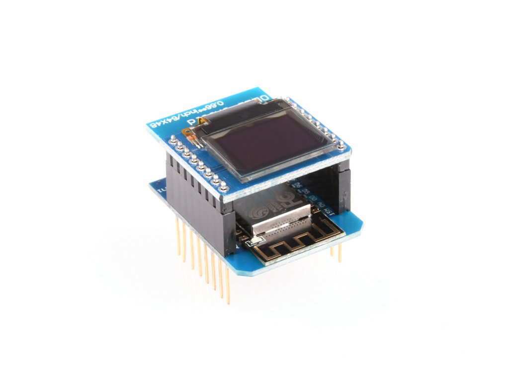 WeMos D1 mini OLED I2C 64X48 displej shield