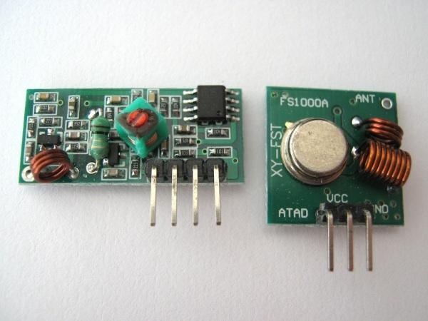 Sada vysílač-přijímač 433Mhz pro Arduino
