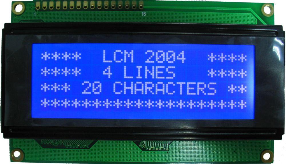 LCD displej 20x4 pro Arduino - modrý I2C (IIC)