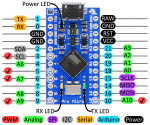 SanDuino MicroPro 16Mhz 5V - ATmega32U4 - USB port!